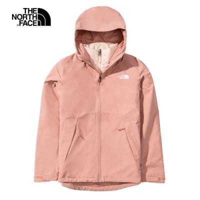 The North Face北面女款粉色防水透氣三合一外套|4NFBVCJ