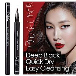 (即期品)韓國LUNA 超防水持久眼線液筆-極細豔黑0.55ml
