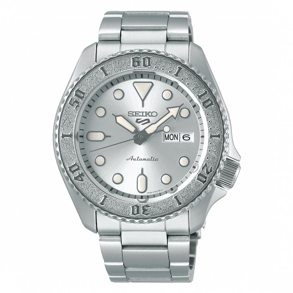 SEIKO 5 sport運動潮流機械腕錶/銀色4R36-08E0S(SRPE71K1)
