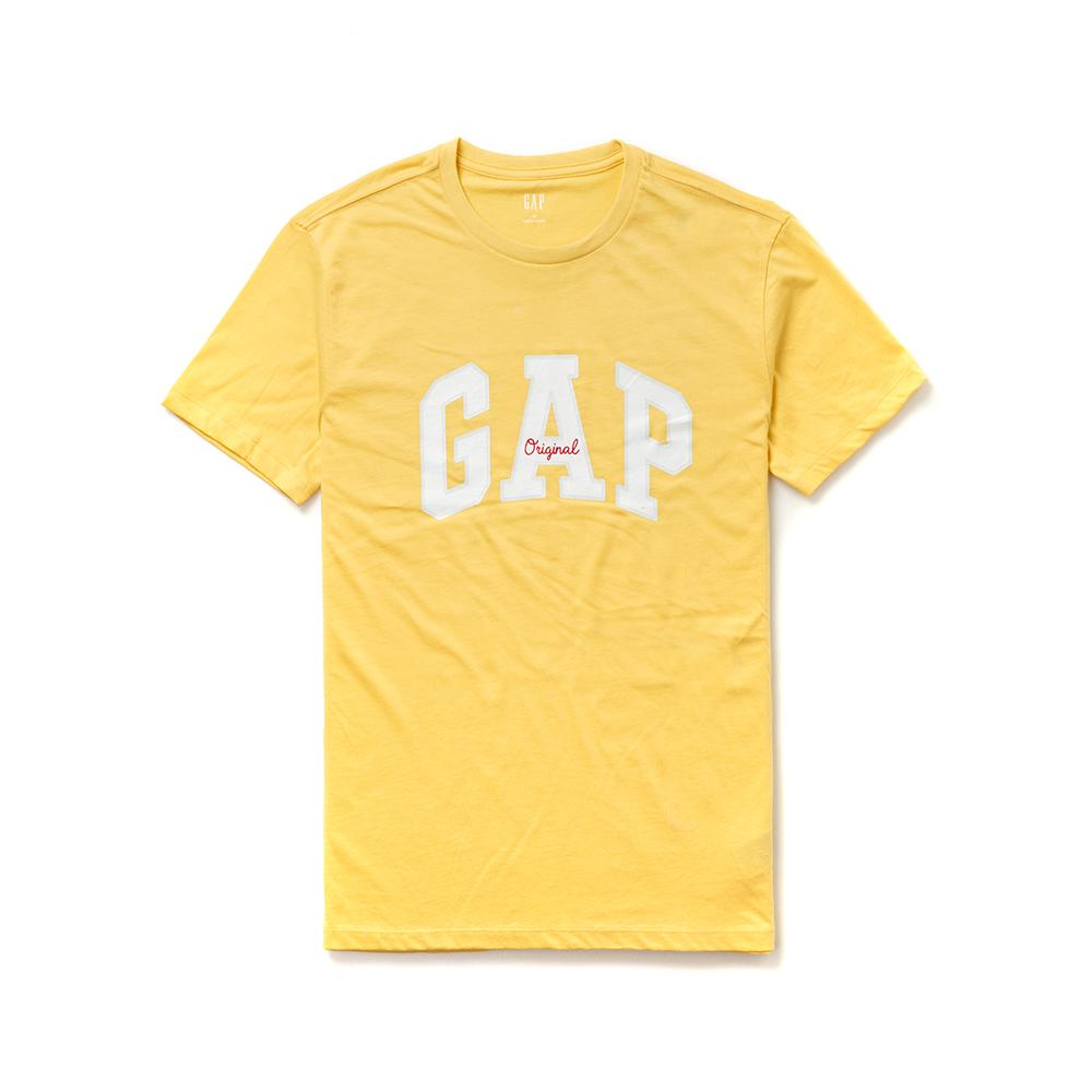 GAP 熱銷經典文字設計短袖T恤(女)-黃色
