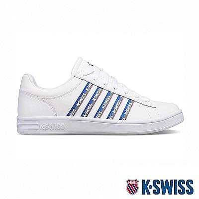 K-SWISS Court Winston Tape時尚運動鞋-男-白/藍/灰