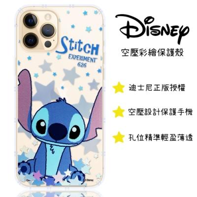 【迪士尼】iPhone 12 Pro (6.1吋) 星星系列 防摔氣墊空壓保護套(史迪奇)
