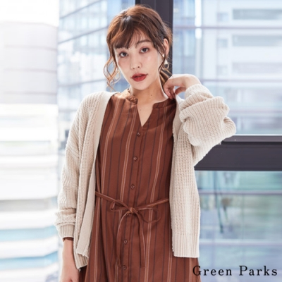Green Parks 基本款素面針織罩衫/外套