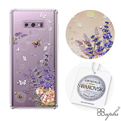 apbs Samsung Galaxy Note9 施華彩鑽防震雙料手機殼-普羅...