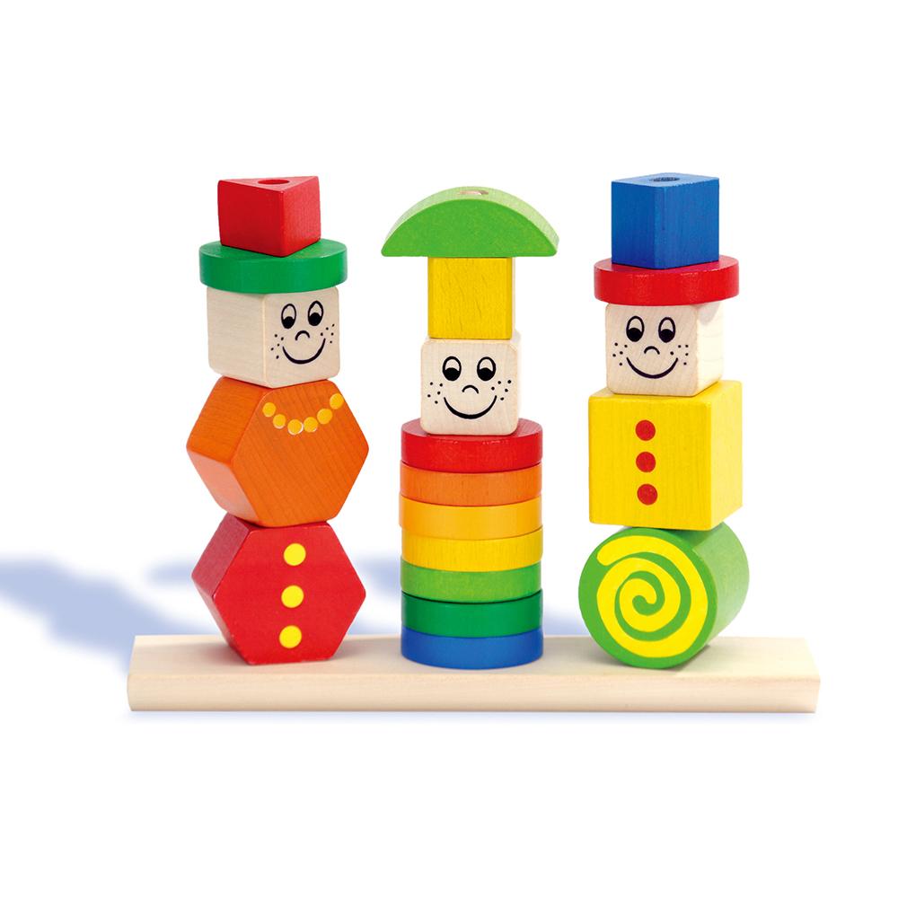 HEROS德國木玩 人偶疊塔