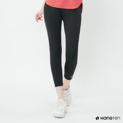 Hang Ten - 女裝 - ThermoContro側邊logo機能緊身褲-黑