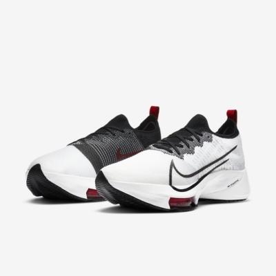 Nike 慢跑鞋 Zoom Tempo Next FK 男鞋 氣墊 避震 路跑 運動 健身 襪套 球鞋 白 黑 CI9923102