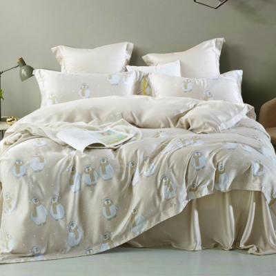 LAMINA 提阿尼 加大100%天絲四件式兩用被套床包組