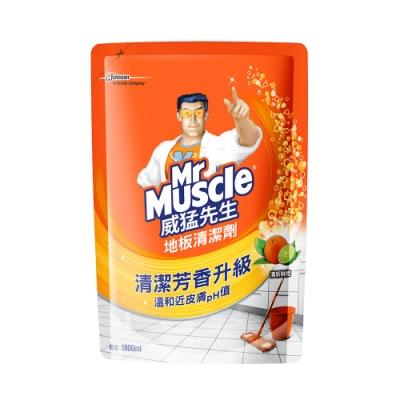 威猛先生 地板清潔劑補充包-清新鮮橙1800ml