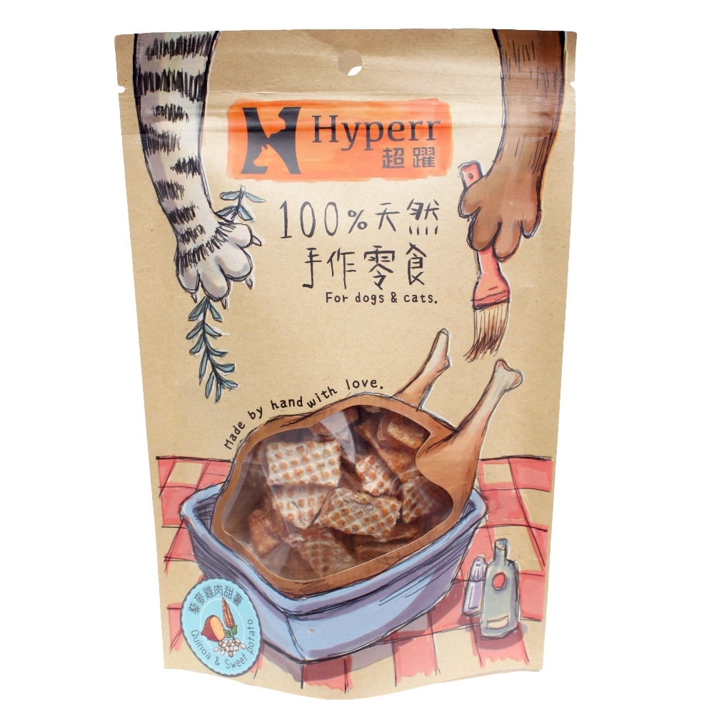 Hyperr超躍 藜麥雞肉甜薯 手作零食 80g