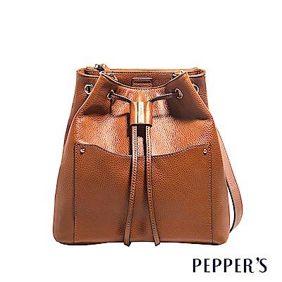 PEPPER`S Beverly 牛皮水桶包 - 焦糖棕