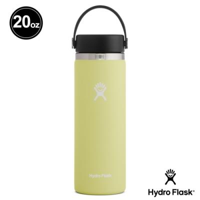 美國Hydro Flask 真空保冷/熱寬口鋼瓶591ml 鳳梨黃