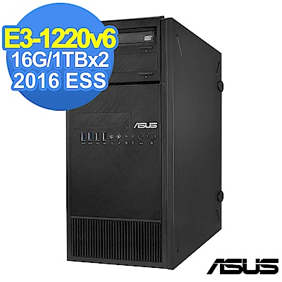 ASUS TS 100 -E 9  E 3 - 1220 v 6 / 16 G/ 1 TBx 2 / 2016 ESS