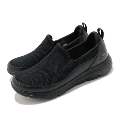 Skechers 休閒鞋 Go Walk 5 Authorize 男鞋 套入式 健走 郊遊 踏青 瑜珈鞋墊 黑 216043BBK