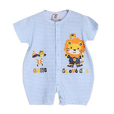 獅子印花短袖連身衣 k50251 魔法Baby