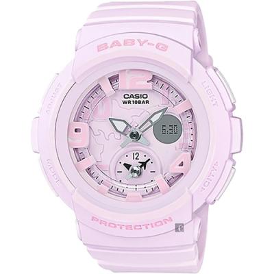 CASIO 卡西歐 Baby-G 愛旅行粉彩手錶-粉紅(BGA-190BC-4B)