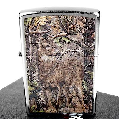 ZIPPO 美系REALTREE APG-狩獵迷彩鹿圖案設計打火機