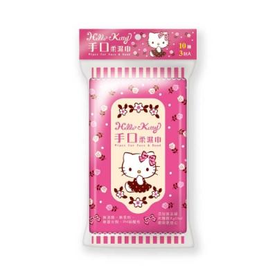 Sanrio 三麗鷗 Hello Kitty 凱蒂貓 手口隨手包濕紙巾 10抽X48包/組
