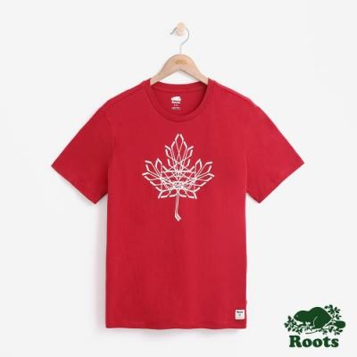 男裝Roots-曲棍球短袖T恤-紅