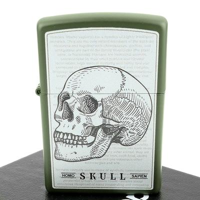 ZIPPO 美系~Skull Design-人類頭骨手稿圖案設計