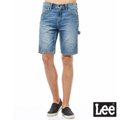 Lee 牛仔短褲 902 男 中淺藍 刷白LITE