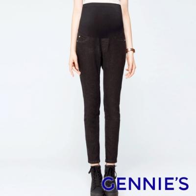 Gennies奇妮-率性時尚顯瘦牛仔褲(黑T4C09)