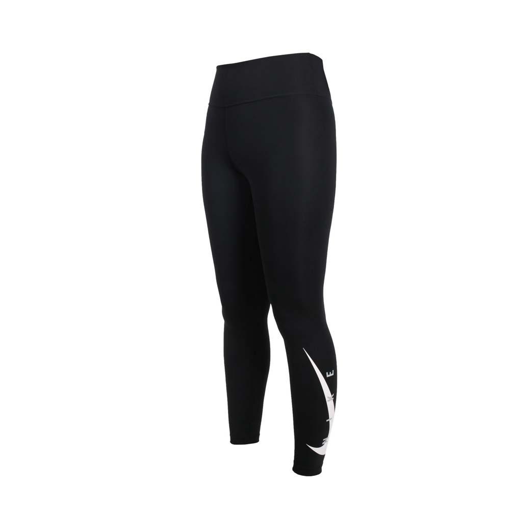 NIKE 女緊身長褲-DRI-FIT 慢跑 路跑 運動 束褲 有氧 訓練 瑜珈 DA1146-010 黑白
