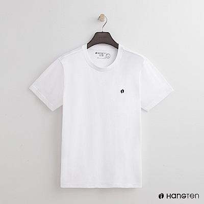 Hang Ten - 男裝 - 有機棉-圓領純色T恤 - 白
