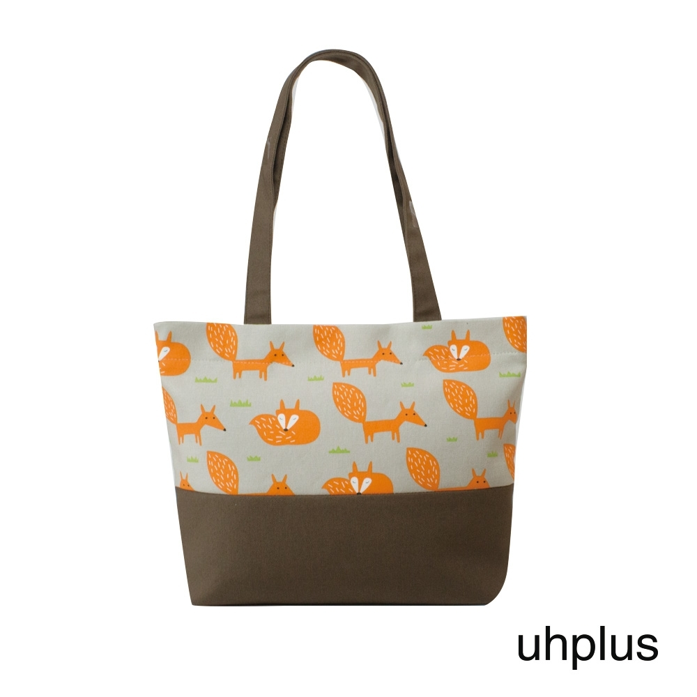 uhplus 輕托特- 小狐狸(灰橘)