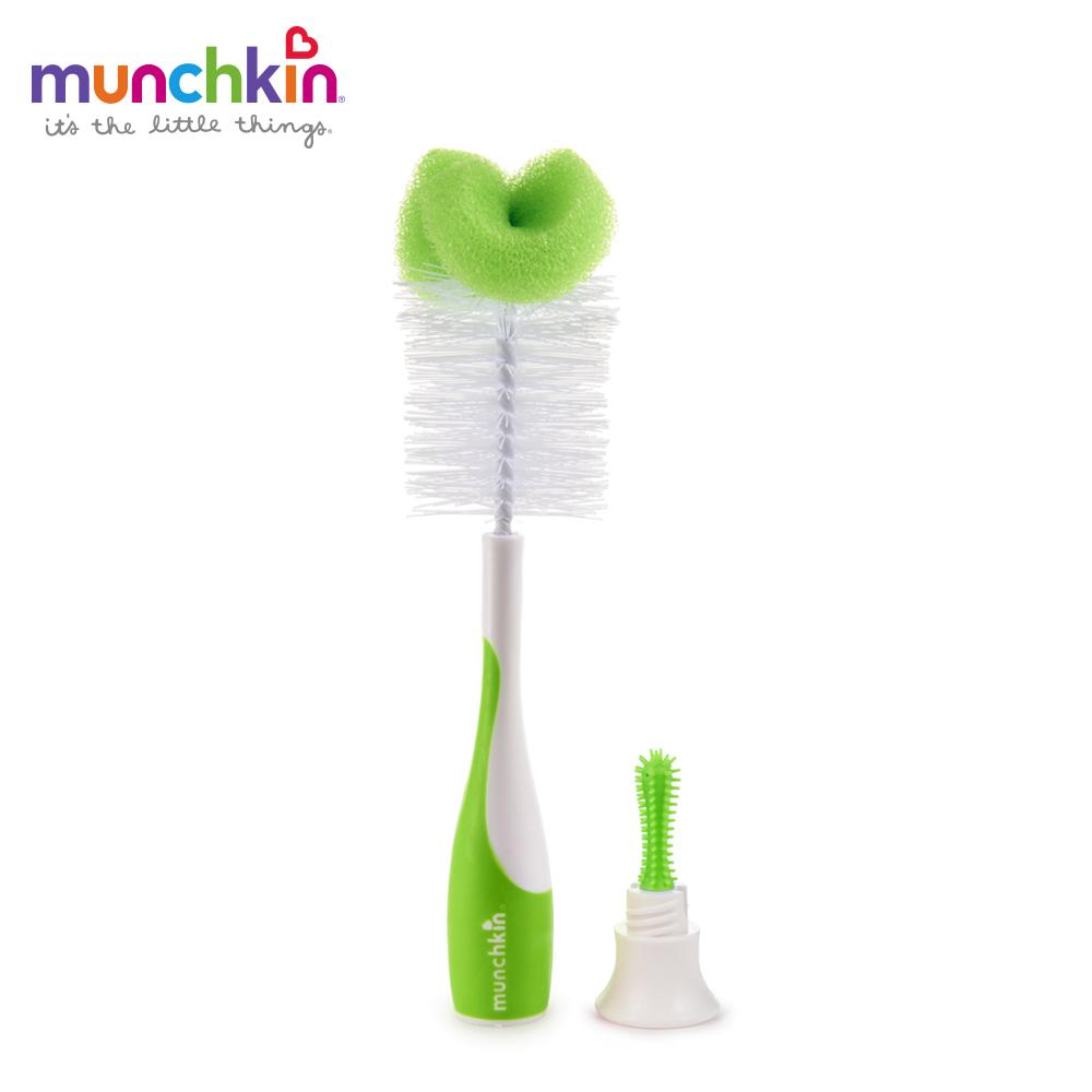 munchkin滿趣健-二合一奶瓶奶嘴刷