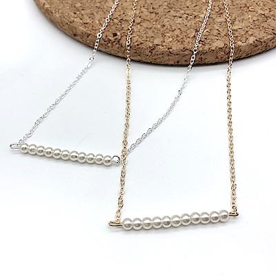 Hera 赫拉 氣質碗豆珍珠鎖骨鍊-2款
