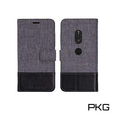 PKG SONY XZ2 皮套保護殼(側翻磁扣皮套-灰黑)