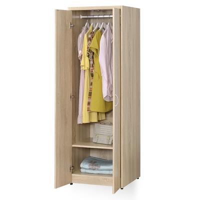 時尚屋 格納2尺雙門單吊衣櫃 寬60x深58x高180公分