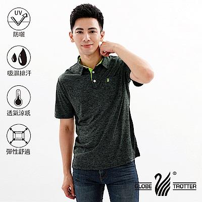 【遊遍天下】MIT男款吸濕排汗抗UV速乾機能POLO衫GS10023黑色