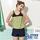 夏之戀SUMMERLOVE 大女條紋長版三件式泳衣