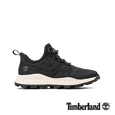 Timberland 男款黑色磨砂革布魯克林休閒鞋|A2BBT