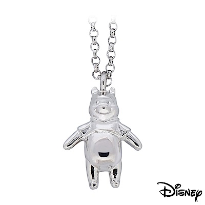 Disney迪士尼系列金飾 立體純銀墜子-樂活維尼款 送項鍊