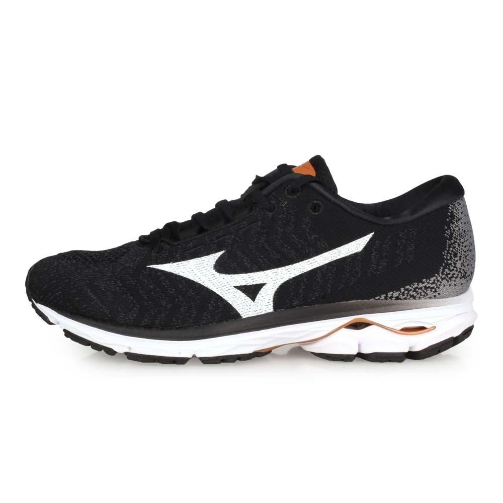 MIZUNO 男 慢跑鞋 WAVE RIDER WAVEKNIT 3 黑白灰