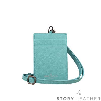 STORYLEATHER 牛皮證件夾 00469B-Y20 十字紋松石藍