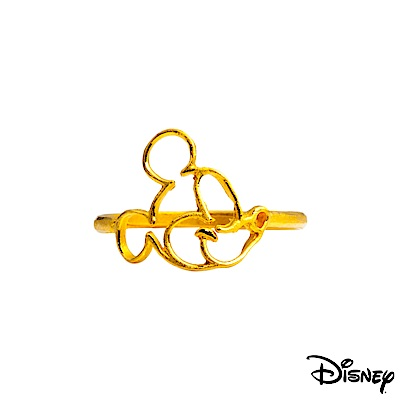 Disney迪士尼系列金飾 黃金戒指-親親米奇款