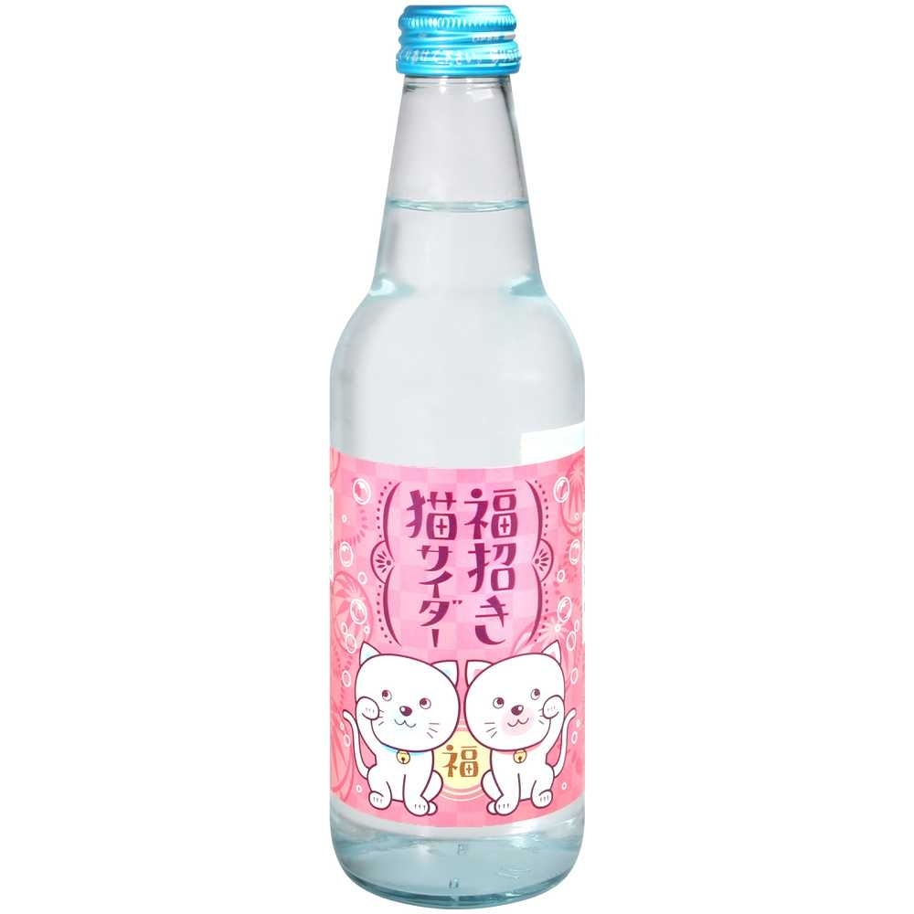 木村飲料 招財貓碳酸飲料(340g)