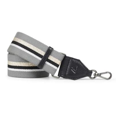 MARKBERG Finley 丹麥手工時尚編織寬版肩揹帶 (潮流灰)