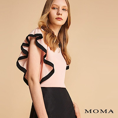 MOMA 荷葉袖針織上衣