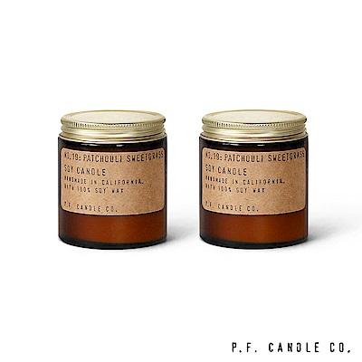 美國 P.F. Candles CO. No.19 廣藿香香草二入組 香氛蠟燭 99g*2