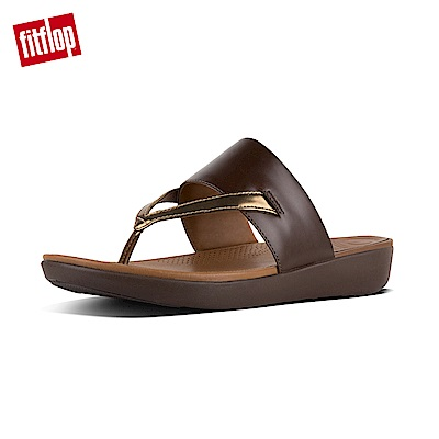 FitFlop DELTA TOE-THONG SANDALS -咖啡/鏡銅