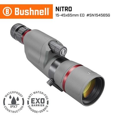 美國 Bushnell 倍視能 Nitro 戰硝系列 15-45x65mm ED螢石專業級單筒望遠鏡 SN154565G (公司貨)