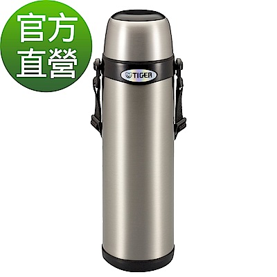 TIGER虎牌 1.0L不鏽鋼經典背帶式保溫保冷瓶(MBI-A100)