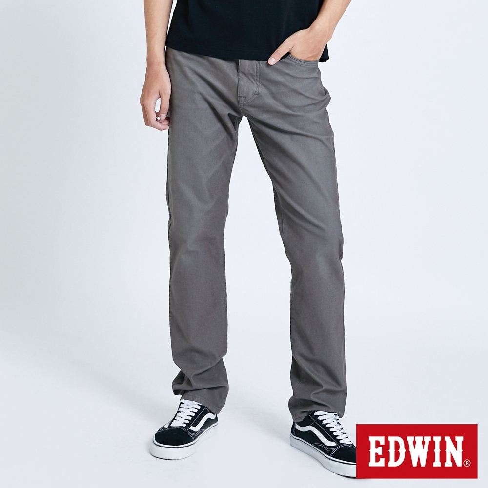 EDWIN JERSEYS 中低腰 中直筒牛仔褲-男-中灰色