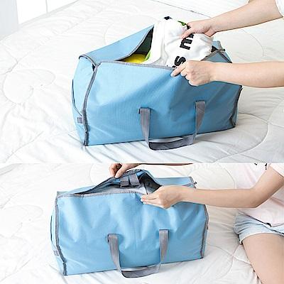 (買1送1)E.City魔術可變換掛式西服防塵罩手提萬用包 共2入
