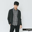 H:CONNECT 韓國品牌 男裝-雙色拼接排釦針織外套-棕(快)